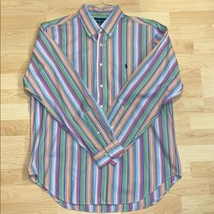 Ralph Lauren Mens Button Down Classic Fit Pastel